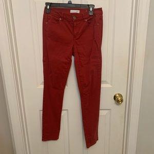 Maroon Loft skinny jeans